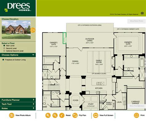drees interactive floor plans drees homes floor plans home design and style
