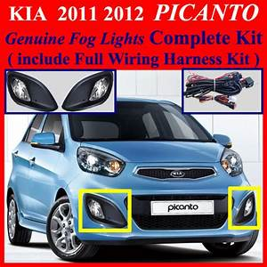 2011 2012 Kia Picanto Fog Light Complete Kit Wiring