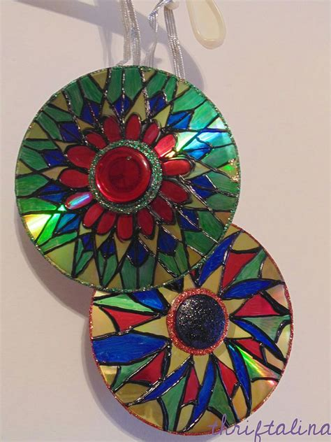 upcycled cd ornaments easy diy project   minute