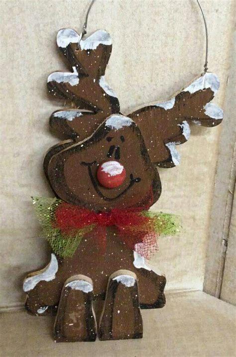 cute reindeer wood craft crafts christmas pinterest