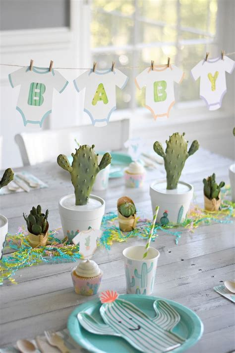 Baby Shower by Throw The Cutest Cactus Baby Shower Clever Decor
