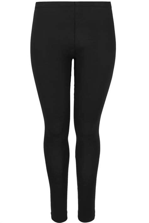 black cotton essential leggings  size