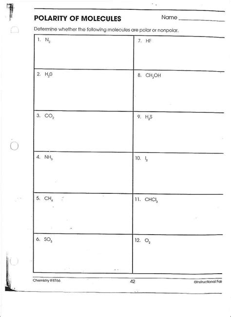 polarity worksheet polarity worksheet answers the best and most