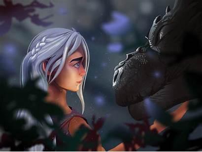 Targaryen Daenerys Thrones Dragon Digital Season Artwork