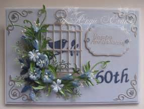 60 wedding anniversary flowers 60th wedding anniversary card