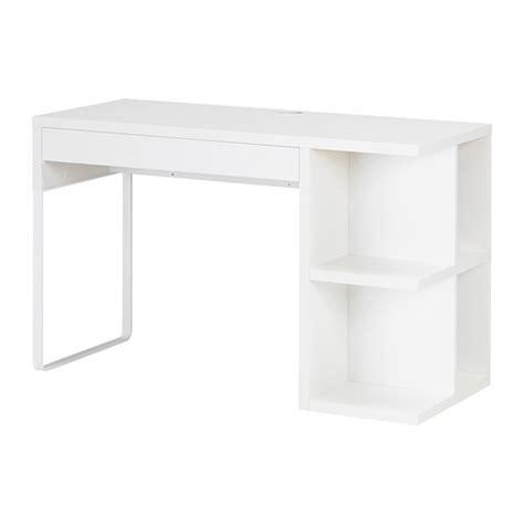 micke bureau avec rangement intégré blanc ikea