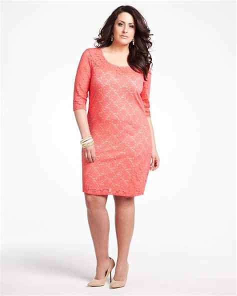 Plus Size Women Lace Dress