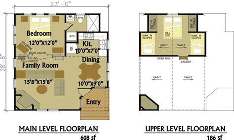 small cabin floor plans with loft 1 bedroom cabin floor