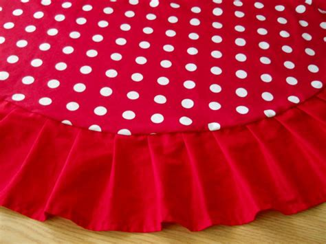 christmas tree skirt 60 red white polka dot red ruffle