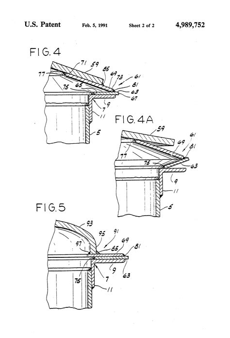 Patent US4989752 - Frangible roof joint for storage tanks