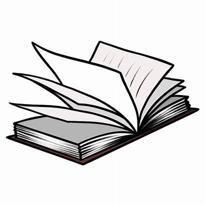 Clipart Open Outline Transparent Clip Transpartent Boek
