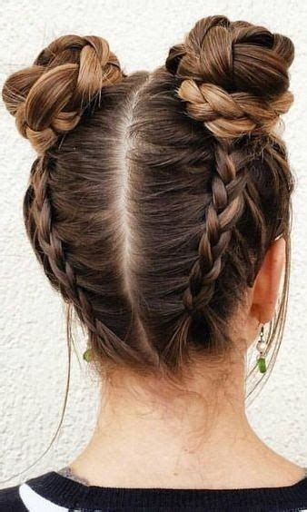Cool Braided Hairstyles For by Wraparound Braided Buns Hair Styles Hair Styles Cool