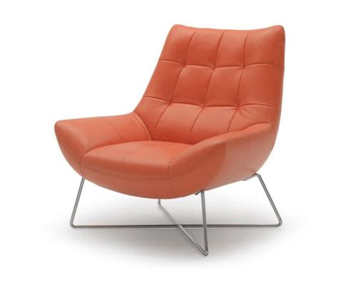 dreamfurniture divani casa a728 modern orange leather lounge chair