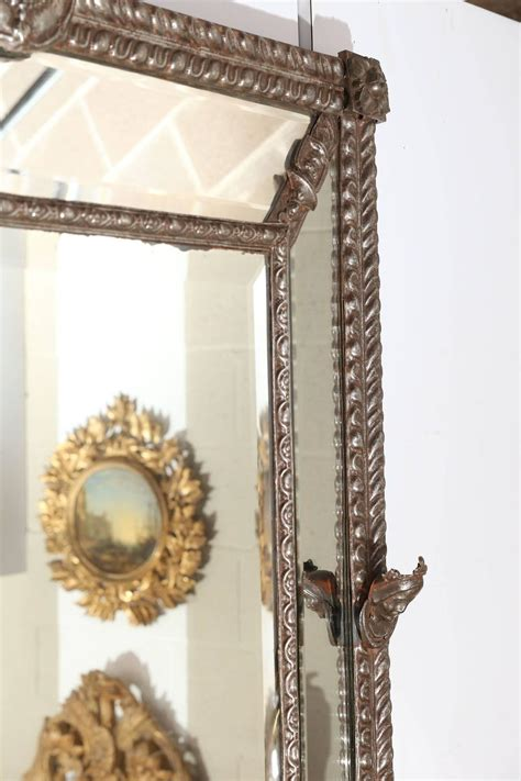 Buy Decorative Wall Mirrors For Sale by Large Beveled Mirror With Decorative Metal Frame For Sale
