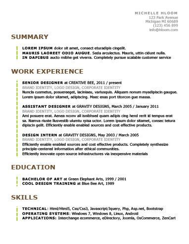 Chronological Resume By Hloom by Best 25 Chronological Resume Template Ideas On