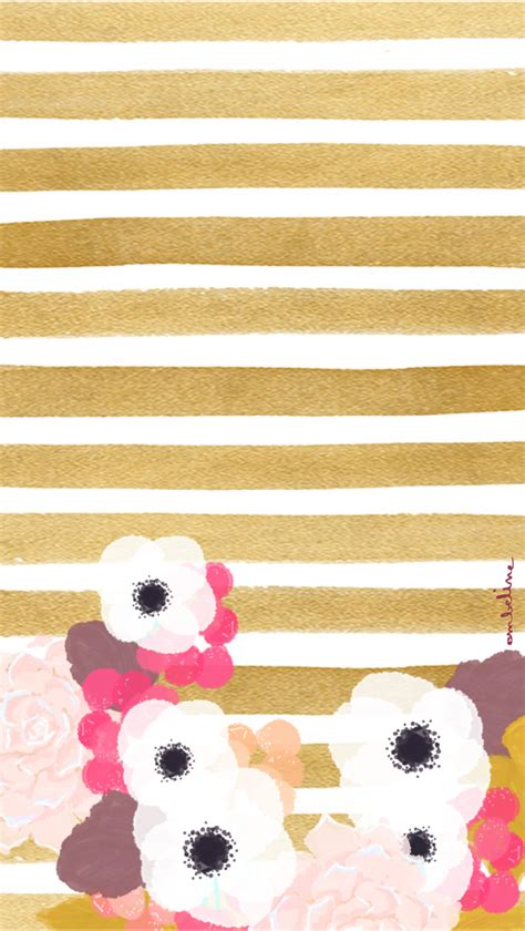 Gold Girly Home Screen Wallpaper by Gold Flower Fashionista Iphone Wallpaper Home Screen