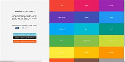 Colors Fresh Material Designers Resources