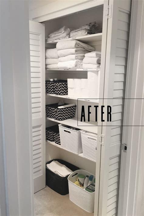 Bathroom Closet Organizers by Linen Closet Organization Shutterbean