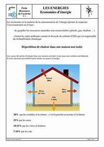 calameo 5ci5 activite 1 comment economiser de l39energie With comment economiser de l energie dans une maison