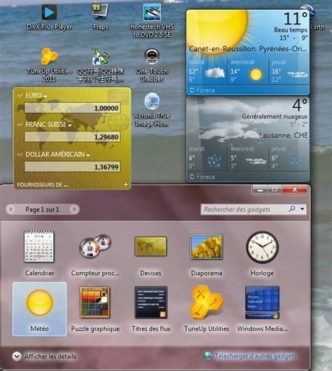 gadget de bureau windows 7 gratuit telecharger gadget meteo windows 7 gratuit