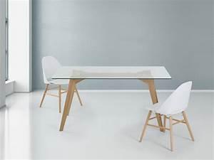 Pied Table Scandinave : table en verre design pour un espace de vie chic et moderne ~ Teatrodelosmanantiales.com Idées de Décoration