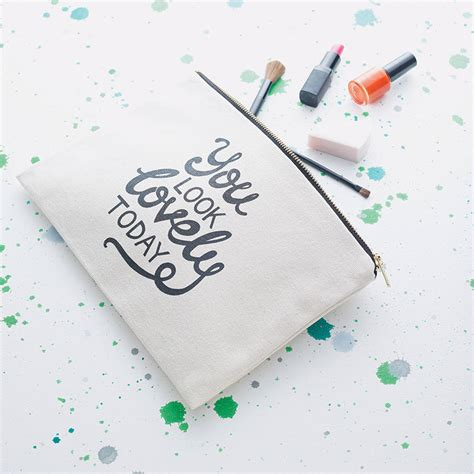 lovely today canvas pouch  alphabet bags notonthehighstreetcom