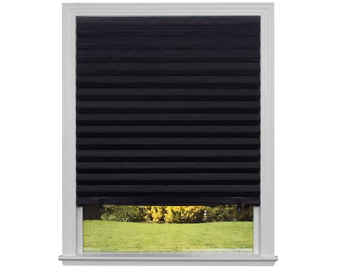 black l shades amazon galleon original blackout pleated paper shade black 36