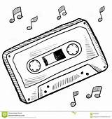 Cassette Tape Drawing Clipart Sketch Vector Drawings Doodle Music Illustration Tattoo Player Record Tapes Illustrations Casette Clip Template Audio Rewind sketch template