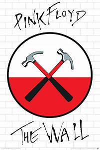 PINK FLOYD ~ THE WALL ~ CROSSED HAMMERS LOGO 24x36 MUSIC ...