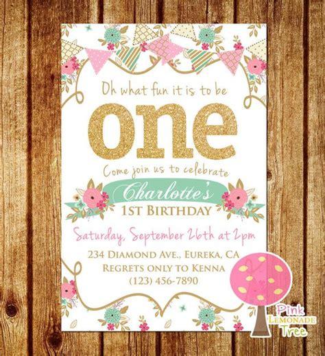 shabby chic 1st birthday shabby chic first birthday party invitation by pinklemonadetree children s party ideas