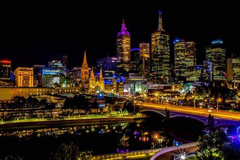 hintergrundbilder melbourne australien bruecken abend flusse