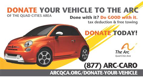 Donate Vehicles by Donate Your Vehicle The Arc Of The Cities Area