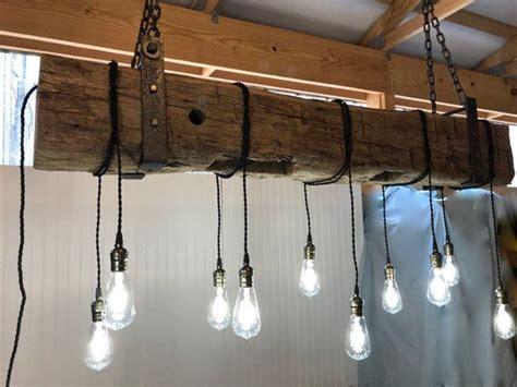 barn beam light farmhouse reclaimed wood light fixture reclaimed wood light fixture