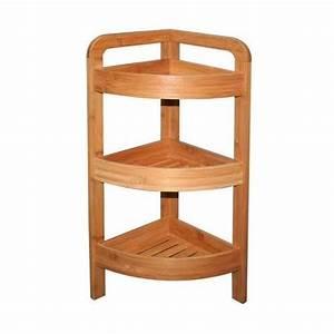 Petite étagère D Angle : tag re d 39 angle bambou 3 niveaux hauteur 61 cm maison fut e ~ Teatrodelosmanantiales.com Idées de Décoration