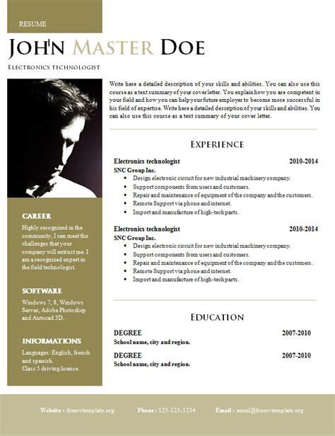 creative design resume doc format 820 825 free cv