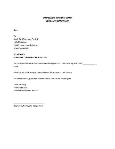 Letter template providing bank details / bank letter templates 13 free sample example format download free premium templates / put your official signature at the end of the letter so that the authorization can be validated. Bank Reference Letter For Account Opening - Letter