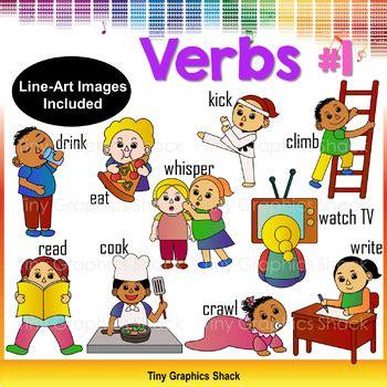 verbs  actions clip art   tiny graphics shack tpt