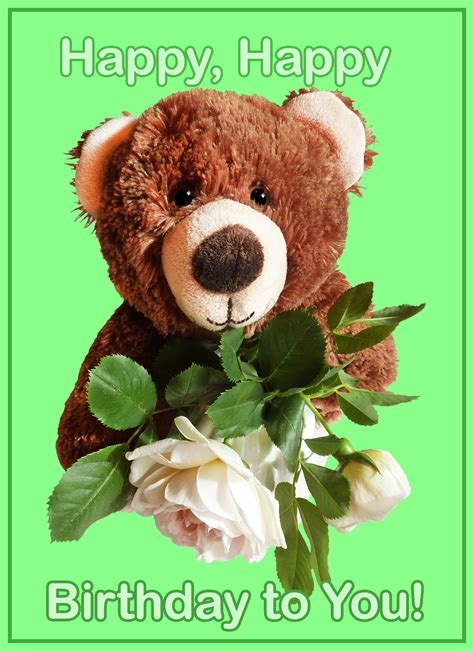 Free Birthday Cards With Teddy Bears  Birthday Party