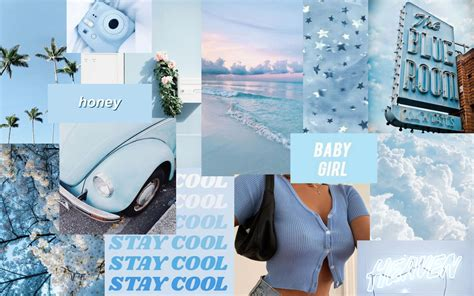 baby blue retro aesthetic laptop wallpapers