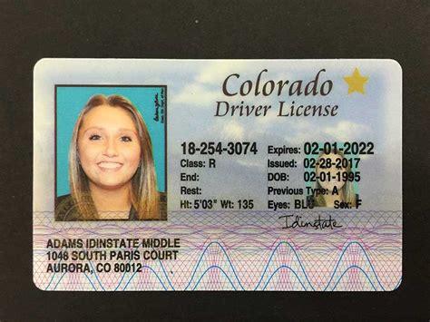 colorado fake license state usa card driver arizona florida dob south carolina ids pennsylvania ohio texas illinois