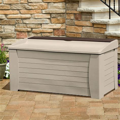 suncast deck box with seat and storage compartment 127 gal sam s club