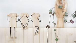 Buchstaben Aus Draht Biegen : do it yourself drei affen als deko und geschenkidee aus ~ Lizthompson.info Haus und Dekorationen