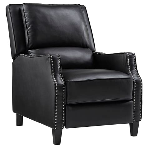 Furniture Trim by Sleek Recliner With Tight Upholstery And Nailhead Trim By