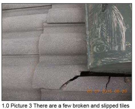 Roof Tiles Broken And Slipped Cost To Repair? Indiana Roof Ballroom Wedding Repairing Leaks Kayak Rack Pads Get Rid Of Moss On Repair Tulsa Ok Roofing Companies In Chicago Metal Pipe Boot Red Garden City