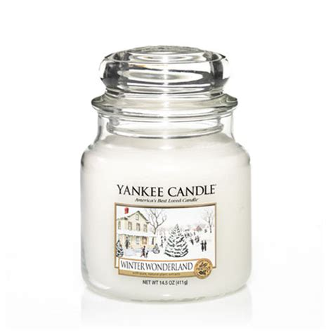 yankee candle winter wonderland medium jar scented candle