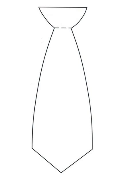Necktie Coloring Page At Free Printable