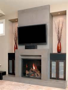 Fireplace Surround Design Ideas with TV Above
