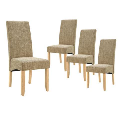 chaises de s jour lot de 4 chaises de séjour couleur beige achat vente