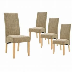 Chaise De Sejour : lot de 4 chaises de s jour couleur beige achat vente chaise bois multiplis cdiscount ~ Teatrodelosmanantiales.com Idées de Décoration