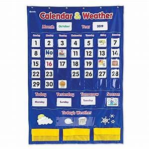 Classroom Calendar Pocket Chart Preschool Calendars Amazon Com